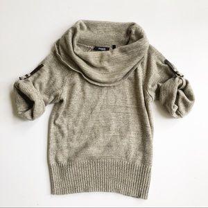 Threads Saks 5th Avenue Cowl Belt Sleeve Sweater
